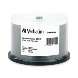 VERBATIM CD-R 50pk Spindle-Wide IJ