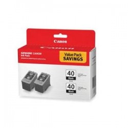 CANON PG40 TWIN PK BLK INK CARTRIDGES
