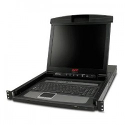 APC - SCHNEIDER 17IN RACK LCD CONSOLE WITH INTEG 8 PORT