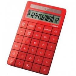 CANON XMARK1R STYLISH RED DESKTOP CALCULATOR