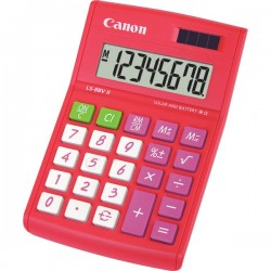 CANON LS88VIIR 8 Digit Calculator Red