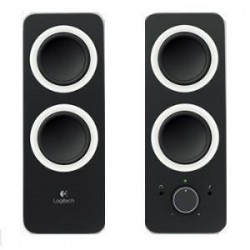 LOGITECH Z200 Multimedia Speakers- Midnight Black