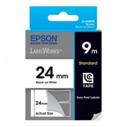 EPSON TAPE STANDARD BLACK ON WHITE 9M